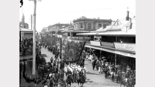 Battalion Parade Hunter Street 1889